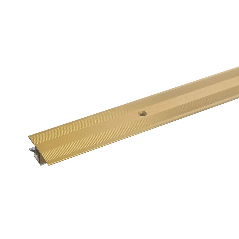 100cm 7-15mm bronze-hell * Rutschhemmend * Kratzfest acerto 36372 /Übergangsprofil Aluminium Laminat /& Parkett /Übergangsleiste f/ür Teppich-Boden 2-teilig Alu-/Übergangsschiene