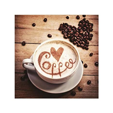 Focus Taza de café impresa 5D Full Rhinestone pintura dibujos para ...