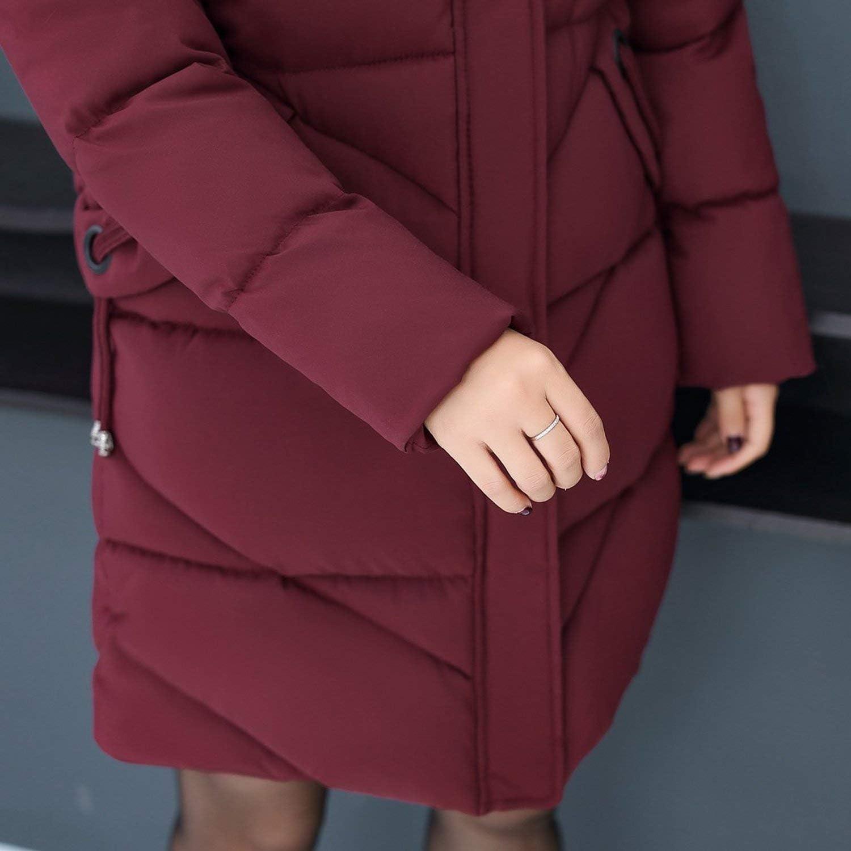 Goods-Store-uk Piumini di Cotone Giacca Invernale Donne Addensare Lungo Parka Donne Abrigo Mujer Capispalla Rosso