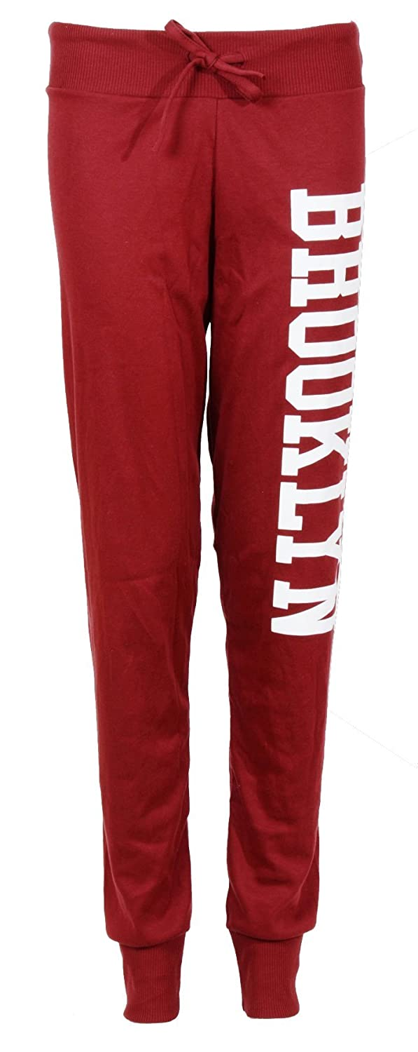 Womens New Brooklyn Ladies Bottoms Tie Waistband Stretch Tracksuit Joggers Pants