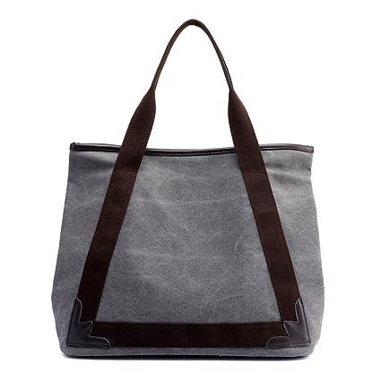 AFCITY Mujeres Bolsos Mano Satchel Cartera Lona de la Vendimia Ladies Shopper Hobo Bag Lona de