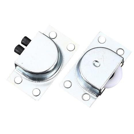 Alftek 1 par Puerta Corredera Cilindro de acero inoxidable muebles gabinete puertas de silencio ruedas