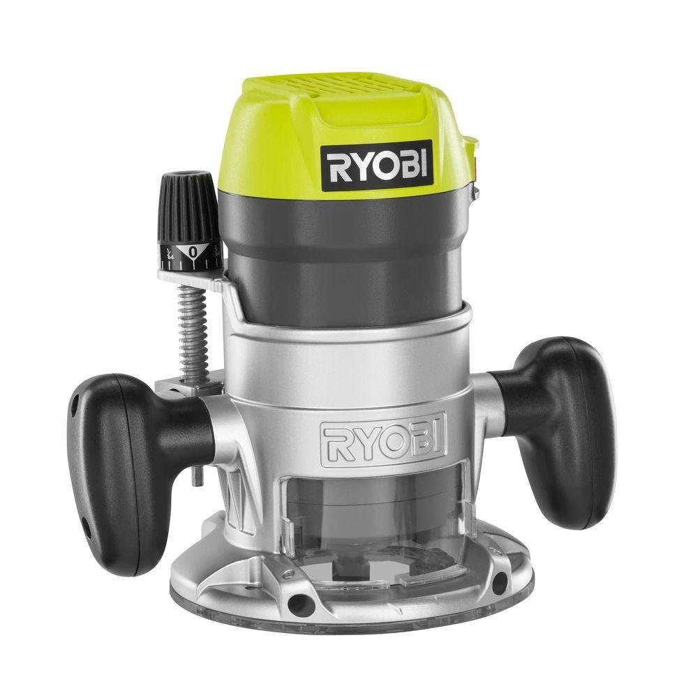 Ryobi R163GK 8.5-Amp 1.5 HP Fixed Base Corded Router Green ...