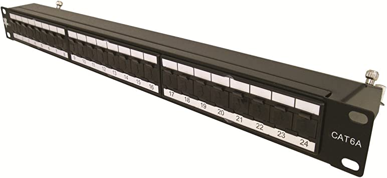 24 Port F Connector Patch Panel Passthrough New 19 inch