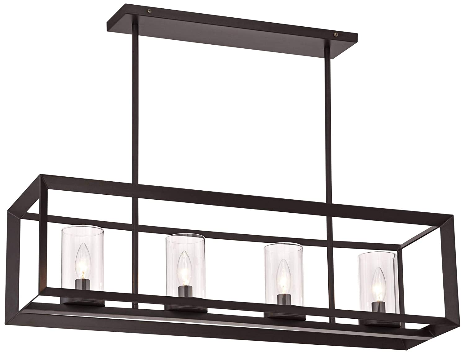 Cove Point 34 1 2 Wide Open Frame Rectangular Chandelier – Franklin Iron Works