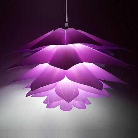 Myfei DIY Lotus IQ Puzzle Pantalla de lámpara de techo colgante, PP Techo habitación decoración Led lámpara colgante moderna lámpara de techo para ...