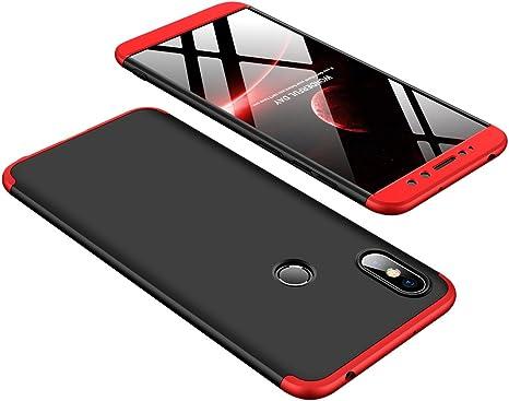 DESCHE compatibles con funda Xiaomi Redmi S2 Rojo Negro, PC duro ...
