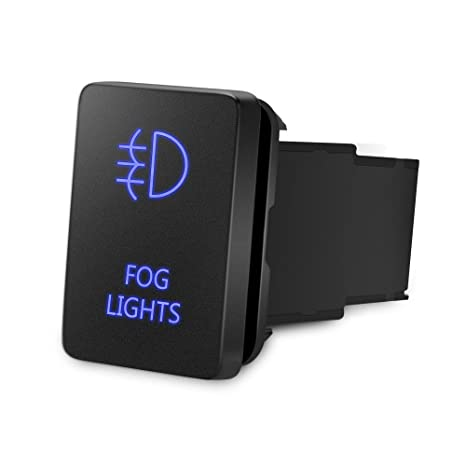 MICTUNING Backlit FOG LIGHTS Symbol Push on with Wiring Kit ON-OFF on