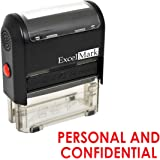 PERSONAL AND CONFIDENTIAL Self Inking Rubber Stamp - Red Ink