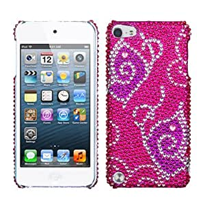Snap on Cover Fits Apple iPod Touch 5 (5th Generation) Tattoo Butterfly Full Diamond/Rhinestone Back (Please carefully check your device model to order the correct version.)