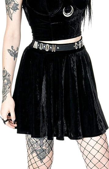 Restyle Falda Moon Child Gótica Brujería - Negro (2XL - ES 44 ...