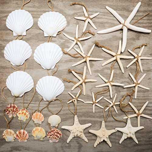 Hinterland Trading Nautical 30 Piece Nautical Christmas Ornament Decoration Set