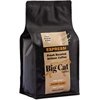 Boost Foodz - Big Cat Coffee - Espressi - Artisan Fresh Roasted - Whole Beans - Gourmet Italian Blend - Dark Roast - 500g Bag - Australian Made