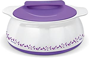 Milton Exotique Insulated Hot-pot Food Server Casserole with Stainless Steel Insert Keeps Food Warm/cold for Hours - 2.5 Lt