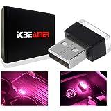 ICBEAMER [Color:Purple Universal USB Interface Plug-in Miniature Night Light LED Car Interior Trunk Ambient Atmosphere