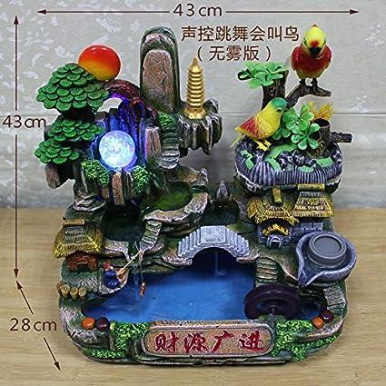Fuente de agua Feng Shui suerte rueda rocalla de muebles para el hogar oficina regalo de
