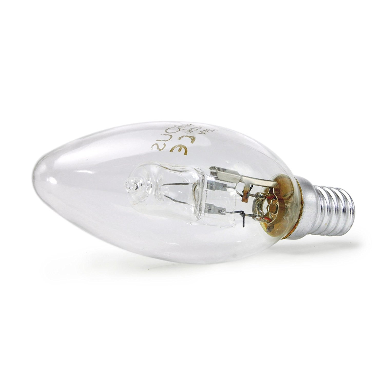 SES//E14 28 W = 40 W 5 lampadine alogene a oliva luce bianca calda Opus dimmerabile a risparmio energetico