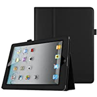 Fintie iPad 2/3/4 Case - Slim Fit Folio Stand Case Smart Protective Cover Auto Sleep/Wake Feature for Apple iPad 2, iPad 3 & iPad 4th Generation with Retina Display, Black