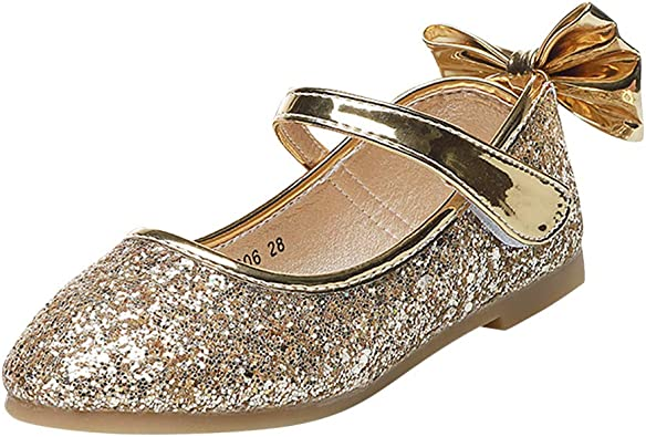 Kids Sparkle Bowknot Ballet Ballerina Princess Mary Janes Sandals uirend Girls Shoes Flats Balle