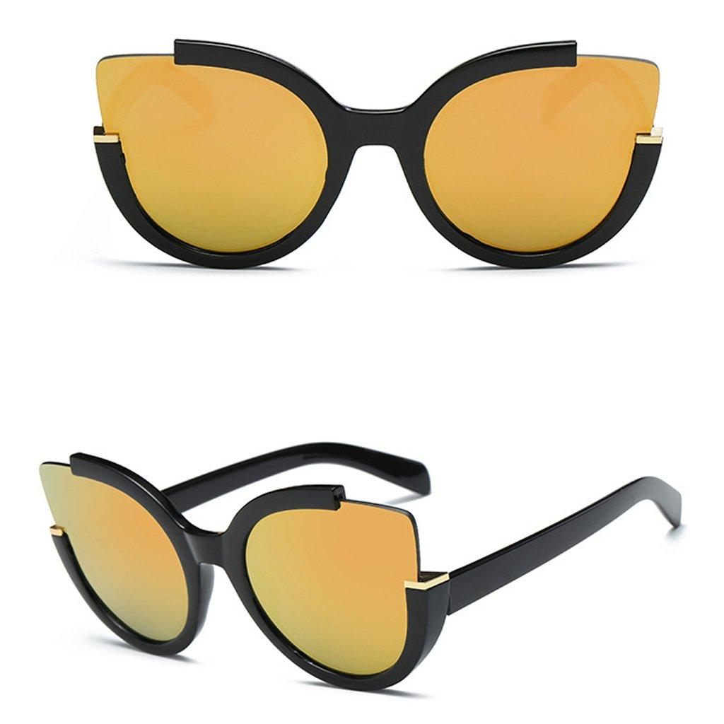 Doober Women Retro Vintage Mirrored Lens Sports Cat Eye Oversized Sunglasses Shades