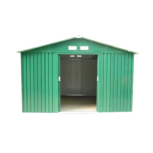 Dirty Pro Tools 10 X 8 FT Metal Garden Shed With Base  sc 1 st  Amazon UK & Apex Metal Storage Shed Outdoor Garden Tool Store Anthracite Grey ...