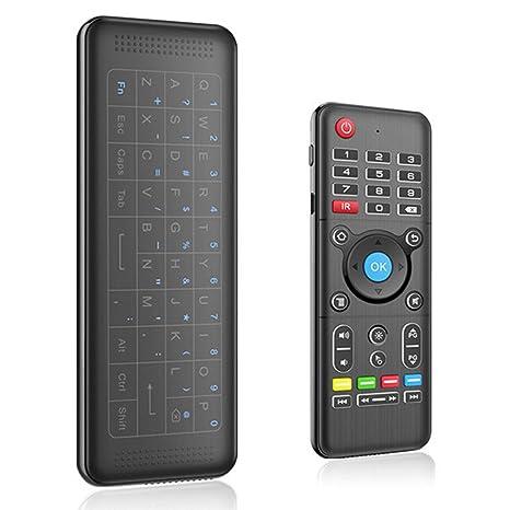 TOOGOO Mini teclado inalambrico H1, Fly Air raton remoto, Raton Recargable con Combinacion de