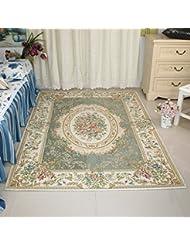 European Pastoral Country Living Room Carpet Coffee Table Bedroom Carpet Office Anti Skid Carpet B 120180CM