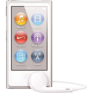 Apple iPod nano 16GB Silver (7th Generation) with Generic Earpods & USB Data Cable