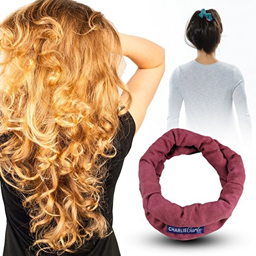 CharlieCurls: On The Go, No Heat Hair Curler (Rose)