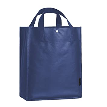 10 Packs Of Grocery Bag Storage Shopping Tote For Your Own Design, Blue
