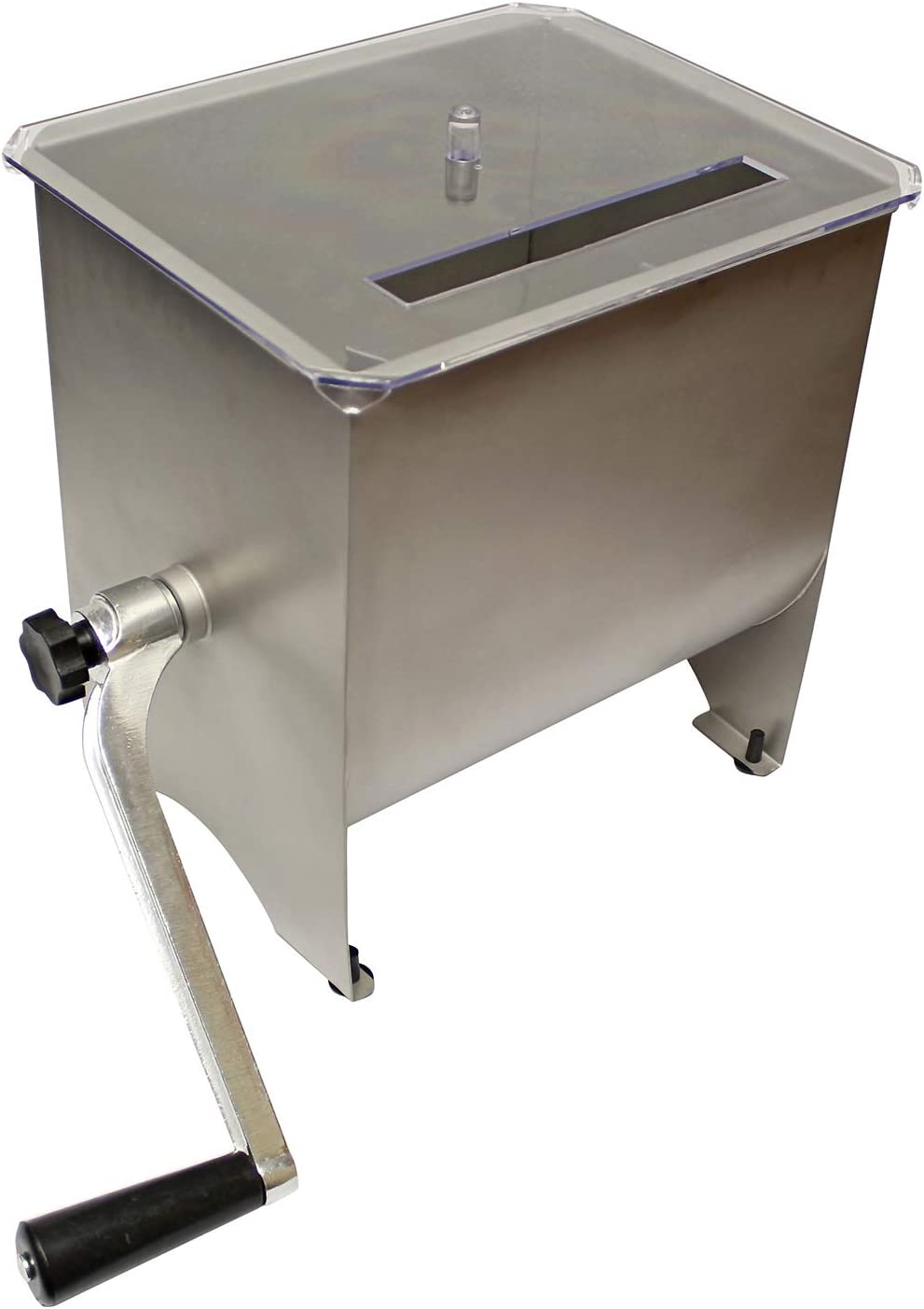 20 lb Sausage Mixer Machine Meat Processing Equipment 7Penn Manual Meat Mixer Ground Beef Hand Mixer with Lid