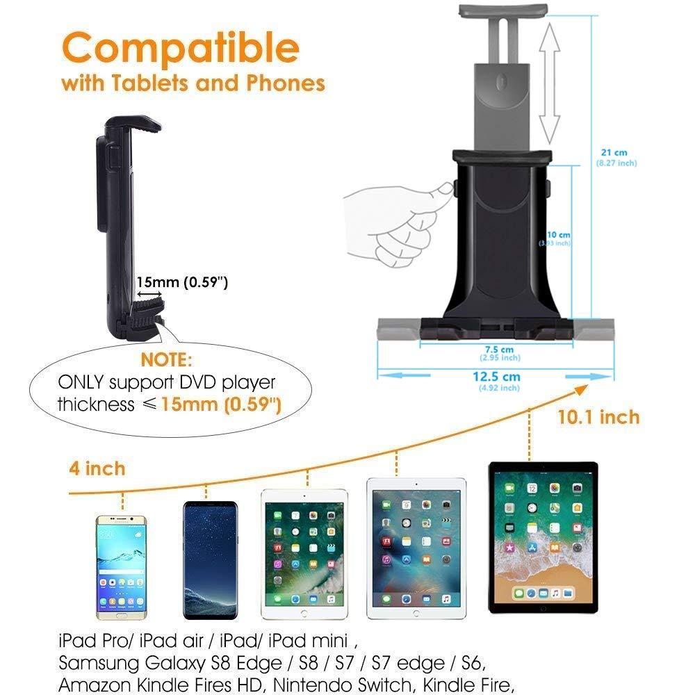 Dual Heads Air Vent Car Phone /& Tablet Mount 2-in-1 Clip Holder for iPhone X 8 7 6 6s Plus SE Samsung Galaxy S9 S8 Plus Edge S7 S6 Note 8 5 Nexus ASUS LG Xiaomi ipad Mini 2 3 4 XNYOCN