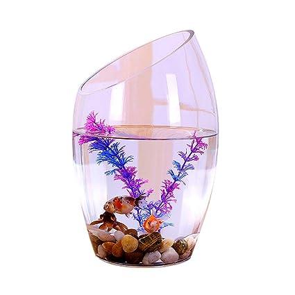 LF stores Peceras Personalidad Creativa Cristal Transparente Pecera Acuario Planta hidropónica Goldfish Tank Acuarios (tamaño