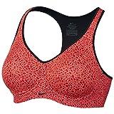 Nike Women's Pro Rival Sports Bra (30D, Light Wild Mango/Light Crimson/Black/Black)