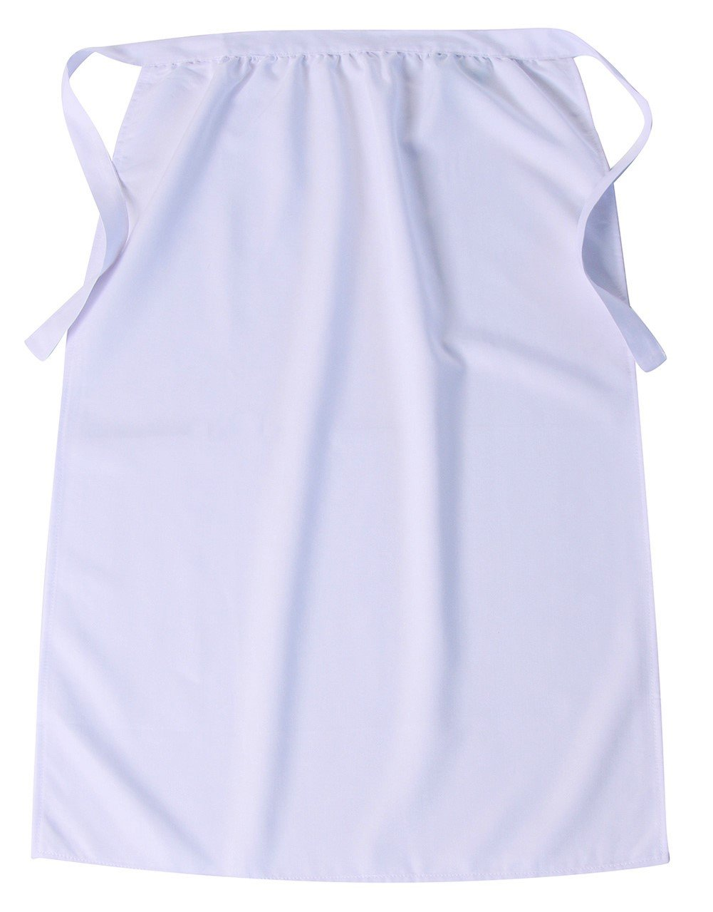 Girls Simple White 30'' Long Peasant Apron