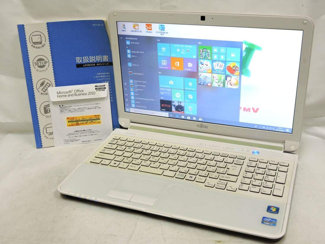 即日発送可 良品 15.6型 富士通 LIFEBOOK AH56/H Win10 64 Home/三世代 Corei7/8G/750G/カメラ/Blu-ray/無線/Microsoft Office 2010【中古ノートパソコン 中古パソコン 中古PC office付】   B07QHK72TZ