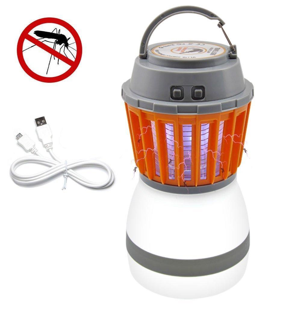 2 in 1 Wasserdicht Camping Laterne und Mosquito Killer, tragbare Wiederaufladbare 2200 mAh USB-LED Zelt Licht für Innen und Außen