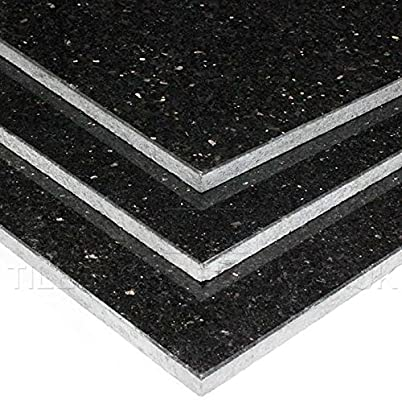 Galaxy Granite Black Tiles Gn Galaxy Sample Amazon Co Uk Kitchen Home