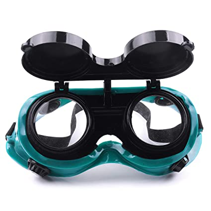 atoplee 2 pcs soldadura corte soldadores gafas de seguridad con tapa up gafas de lentes de