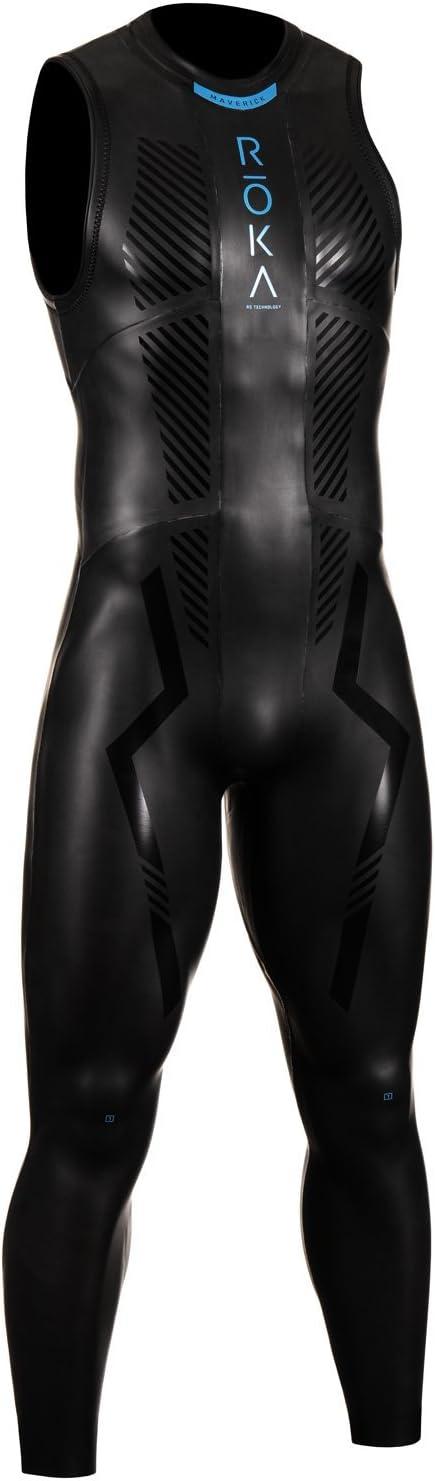 ROKA Maverick Comp II Sleeveless Men's Wetsuit for Swimming and Triathlons