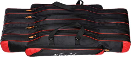 80//90//100cm 3 Layers Fishing Bags Folding Rod Pole Carrier Storage Cases Tackle