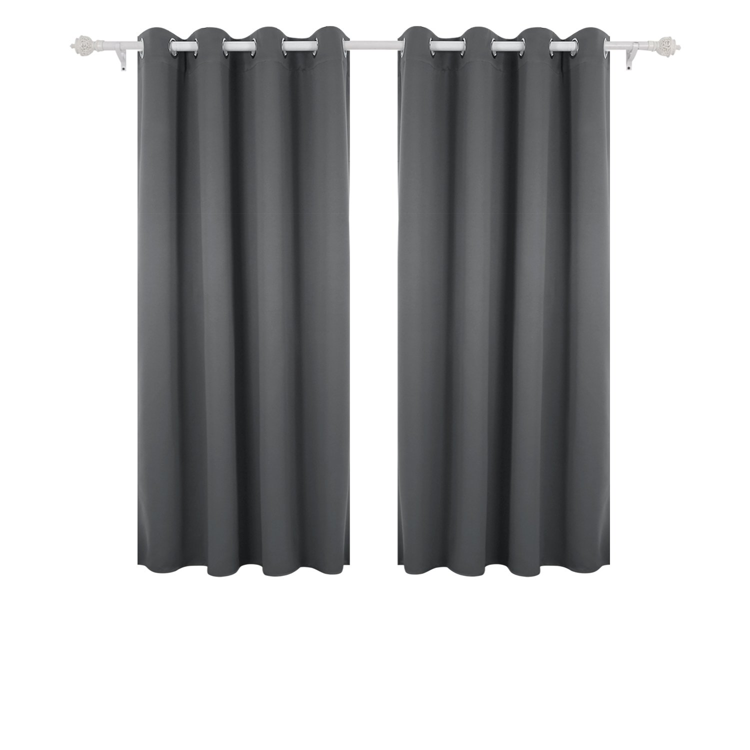 Deconovo Super Soft Thermal Insulated Window Treatment Bedroom Curtains Blackout Eyelet For Livingroom With