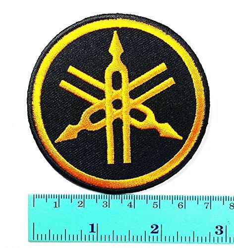Motor Shop Yamaha - Gold&black Yamaha Racing Patch Motorsport Car Racing Sport Automobile Car Motorsport Racing Logo Patch Sew Iron on Jacket Cap Vest Badge Sign