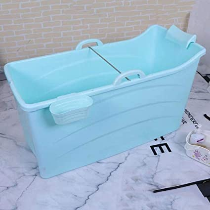 GLokpp Bañera para Adultos Bañera Plegable portátil Hogar Bañera Grande Plato de Ducha Plegable Bañera cómoda para Adultos Plegable ,120X43X53CM