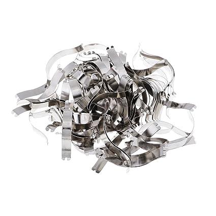 Amazon.com: MagiDeal 100 Pieces Spring Clips - Great Metal Aluminum ...