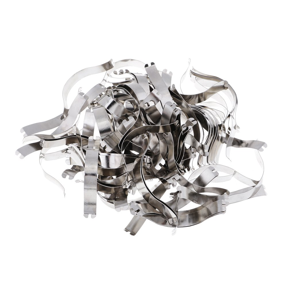MagiDeal 100 Pieces Spring Clips - Great Metal Aluminum Picture Frame Hardware DIY Picture Framing Tools