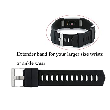 Amazon.com : Baaletc Extender Band with Buckle Closure for Fitbit ...