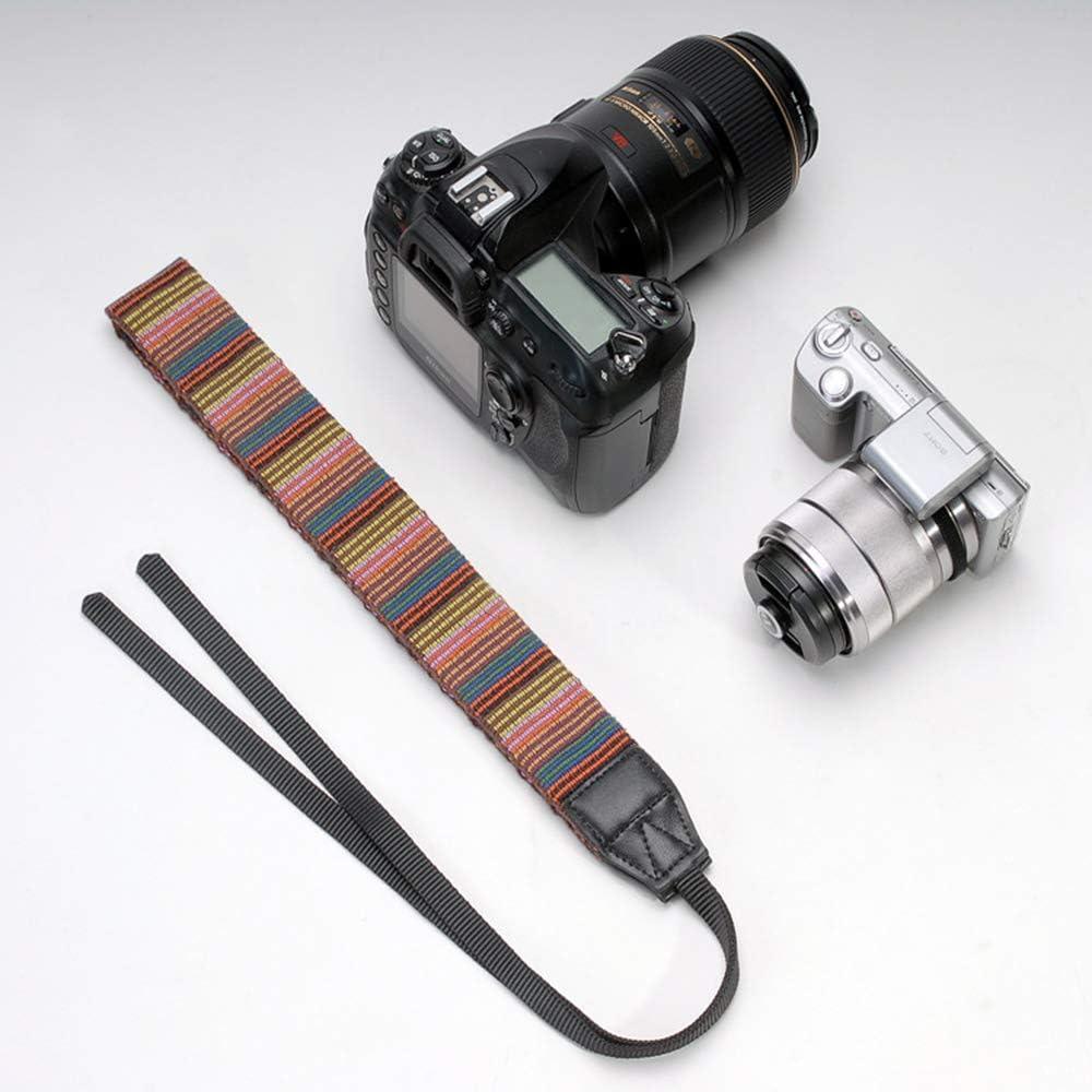 Eorefo Camera Strap Vintage Camera Neck Shoulder Belt Strap for All DSLR Camera,Black.