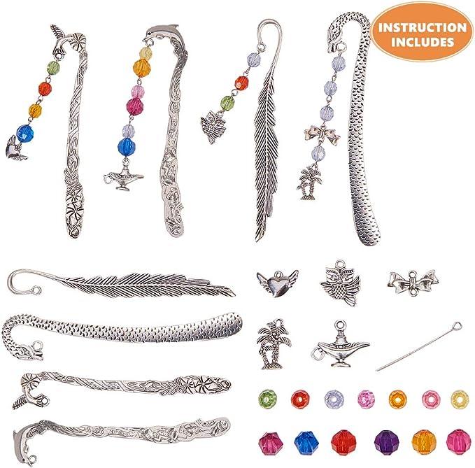 4pcs Owl Charm Tibet silver Charms Pendants DIY Jewellery Making crafts