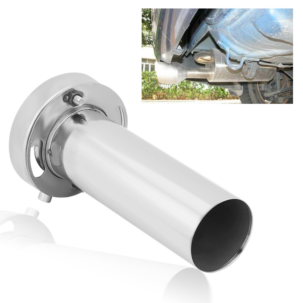 4 Inch Stainless Steel Round Exhaust Tip Universal Adjustable Removable Exhaust Muffler Tip Sound Silencer